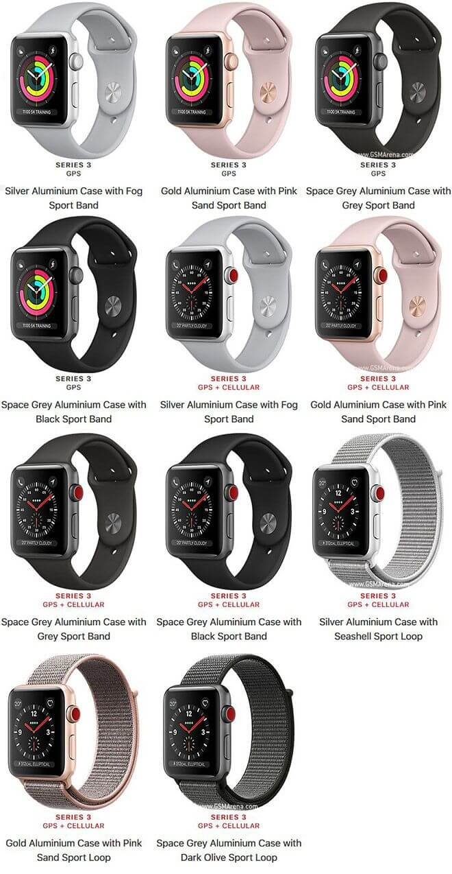 Фото Apple Watch Series 3 много