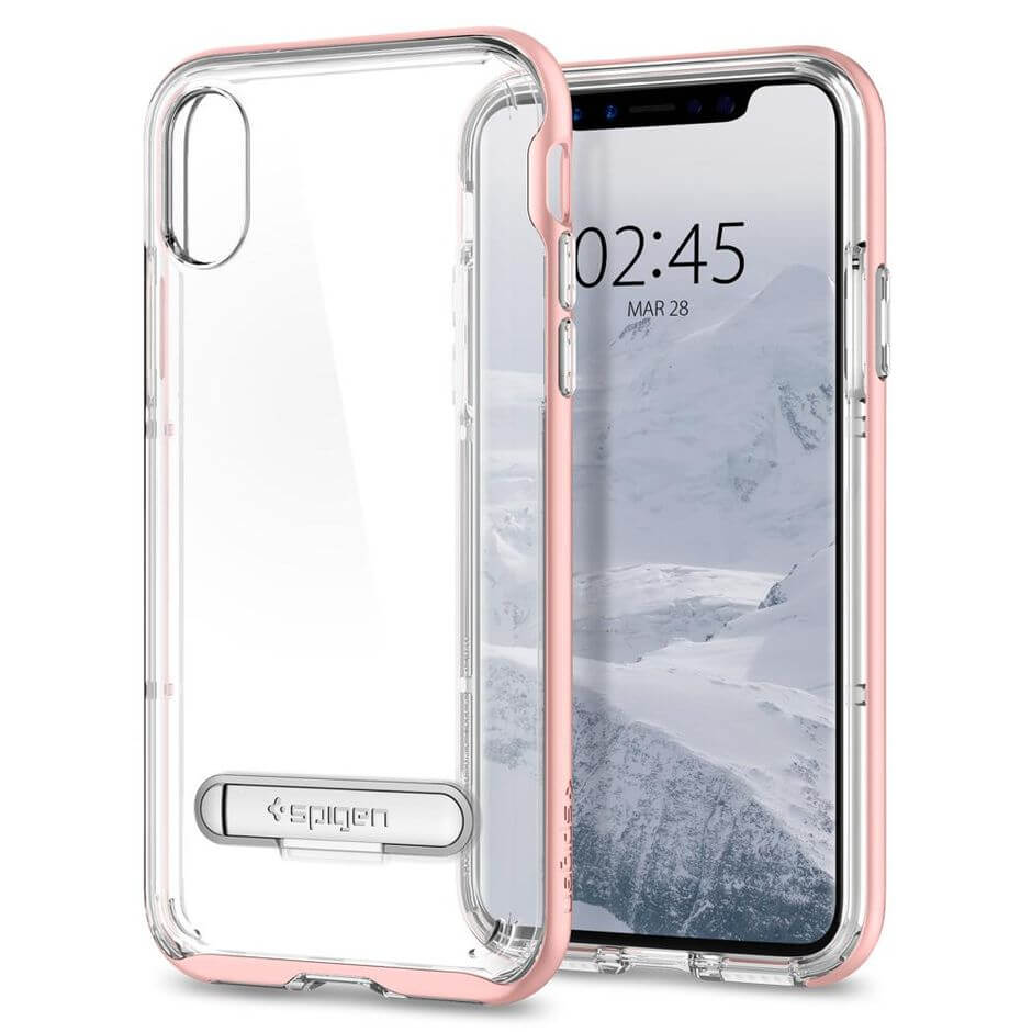 Spiegn Neo Hybrid Crystal iPhone X розовый