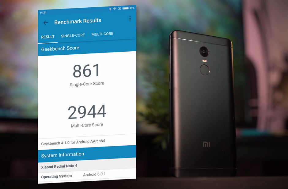 Xiaomi Redmi Note 4x в тесте Geekbench