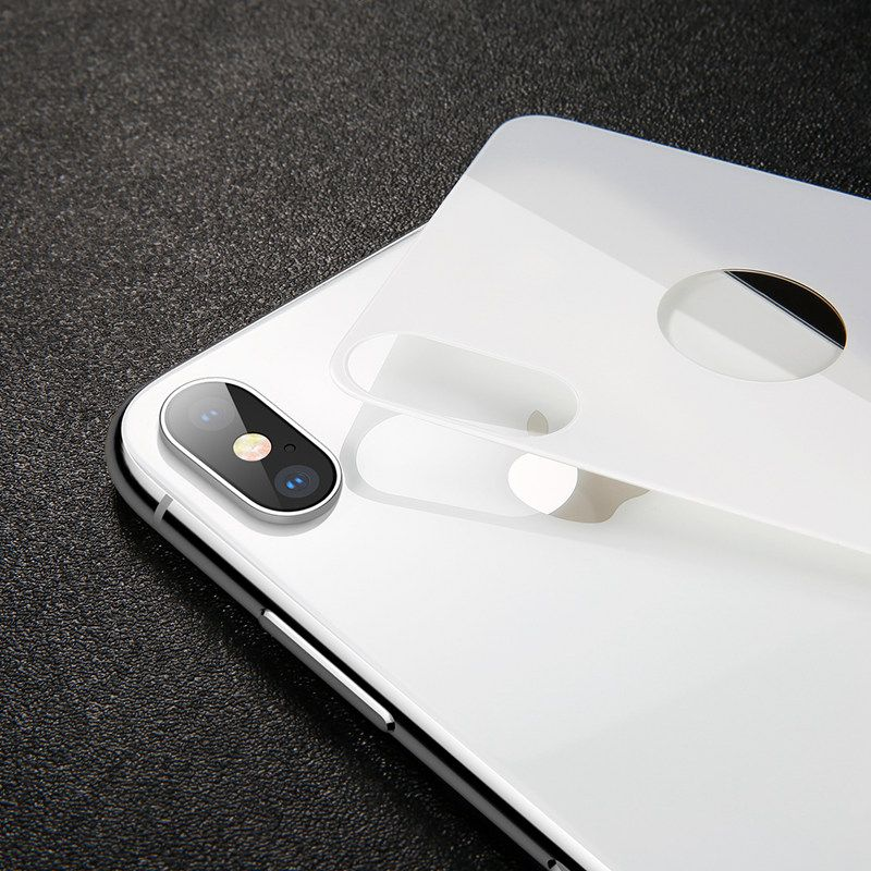 Baseus Tempered Glass на iPhone X - белый цвет