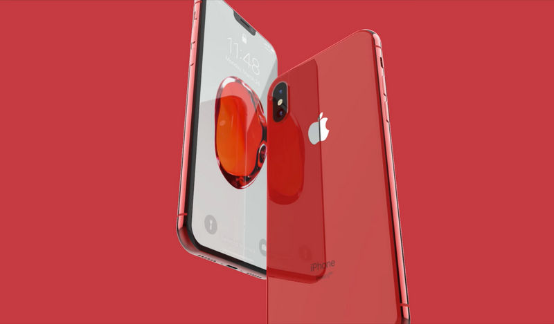 iPhone X Product Red Leather Folio