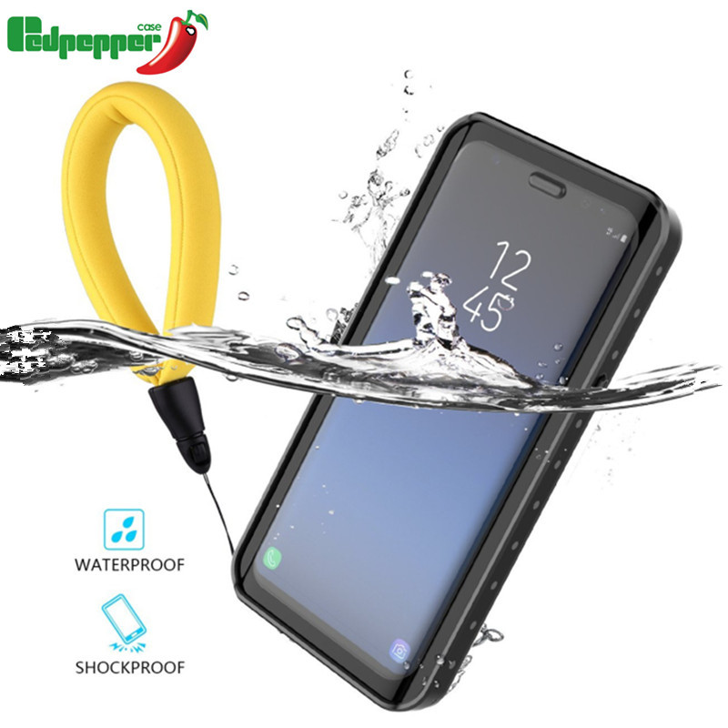 Waterproof Case for Samsung Galaxy note 9 S7 edge S8 note 8 S9 Plus Shockproof Transparent Cover For iphone 7 8 X 6S plus 5S