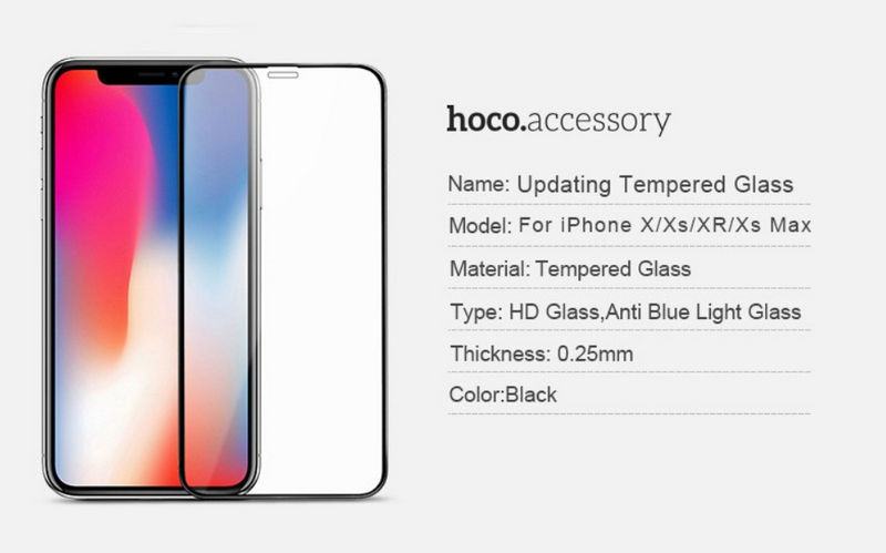 HOCO Full Cover Tempered Glass для iPhone XS Max